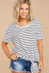 3 Your Favorite White And Black Striped Top at reddressboutique.com
