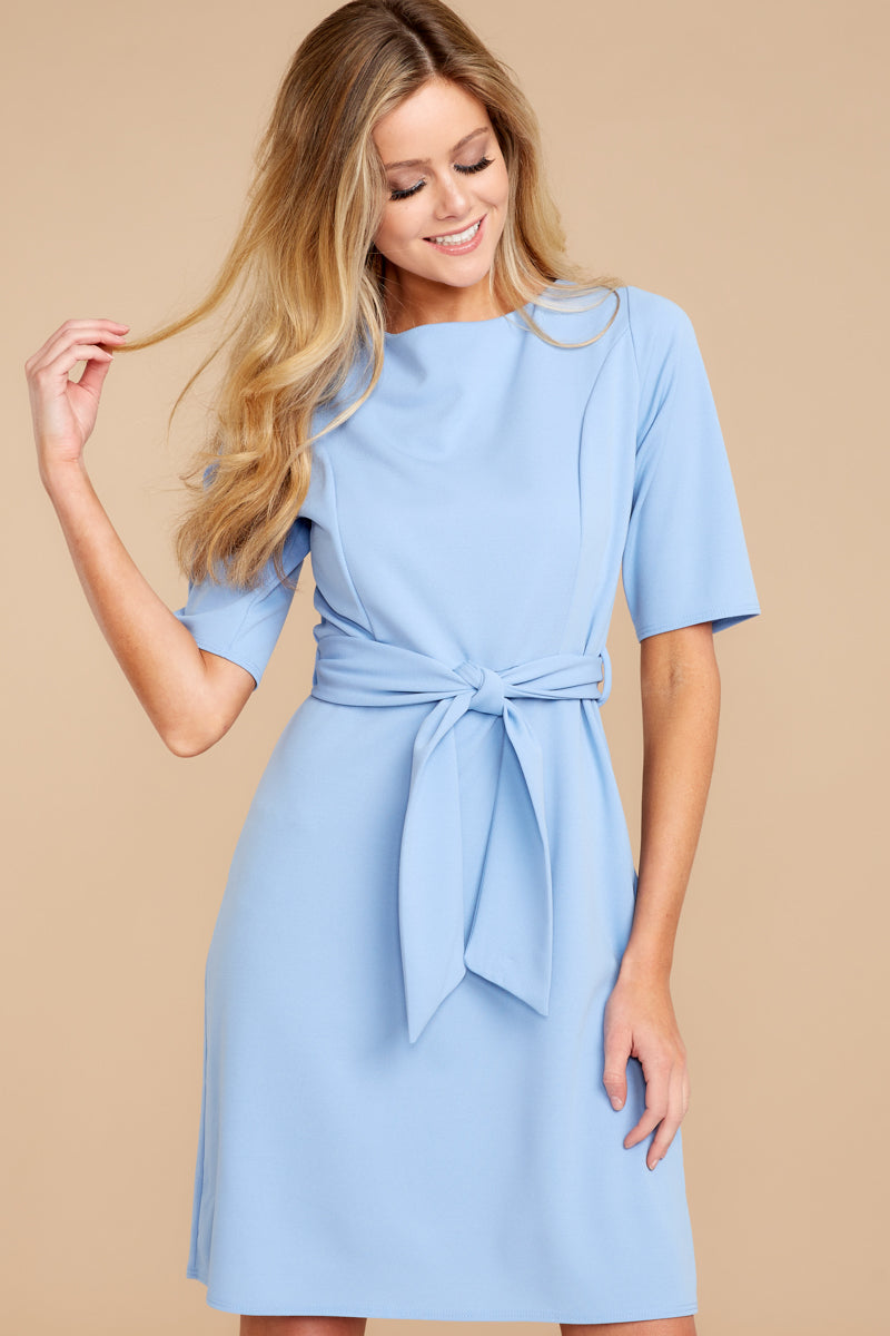 12557438b095 Cute Light Blue Dress - Chic Dress - Dress -  34 – Red Dress