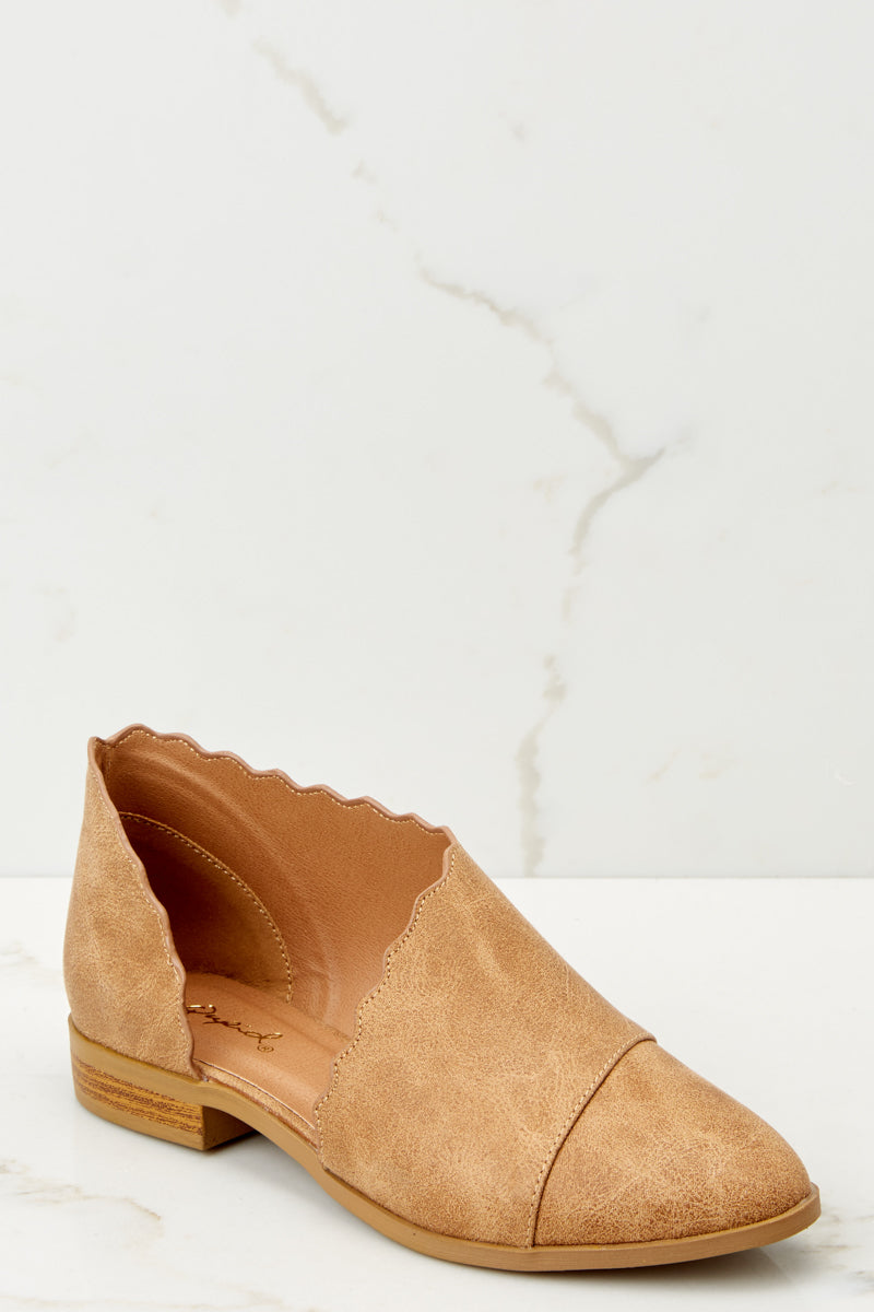 1 Take The Chance Camel Booties at reddressboutique.com