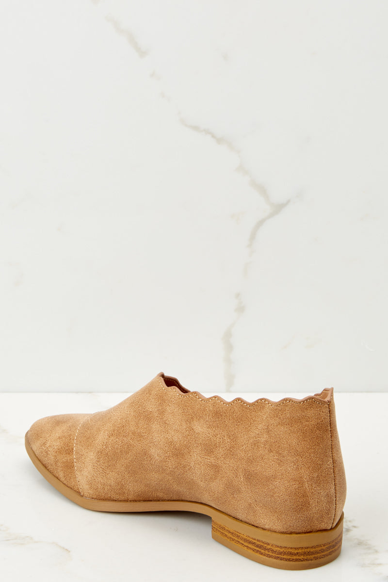 3 Take The Chance Camel Booties at reddressboutique.com