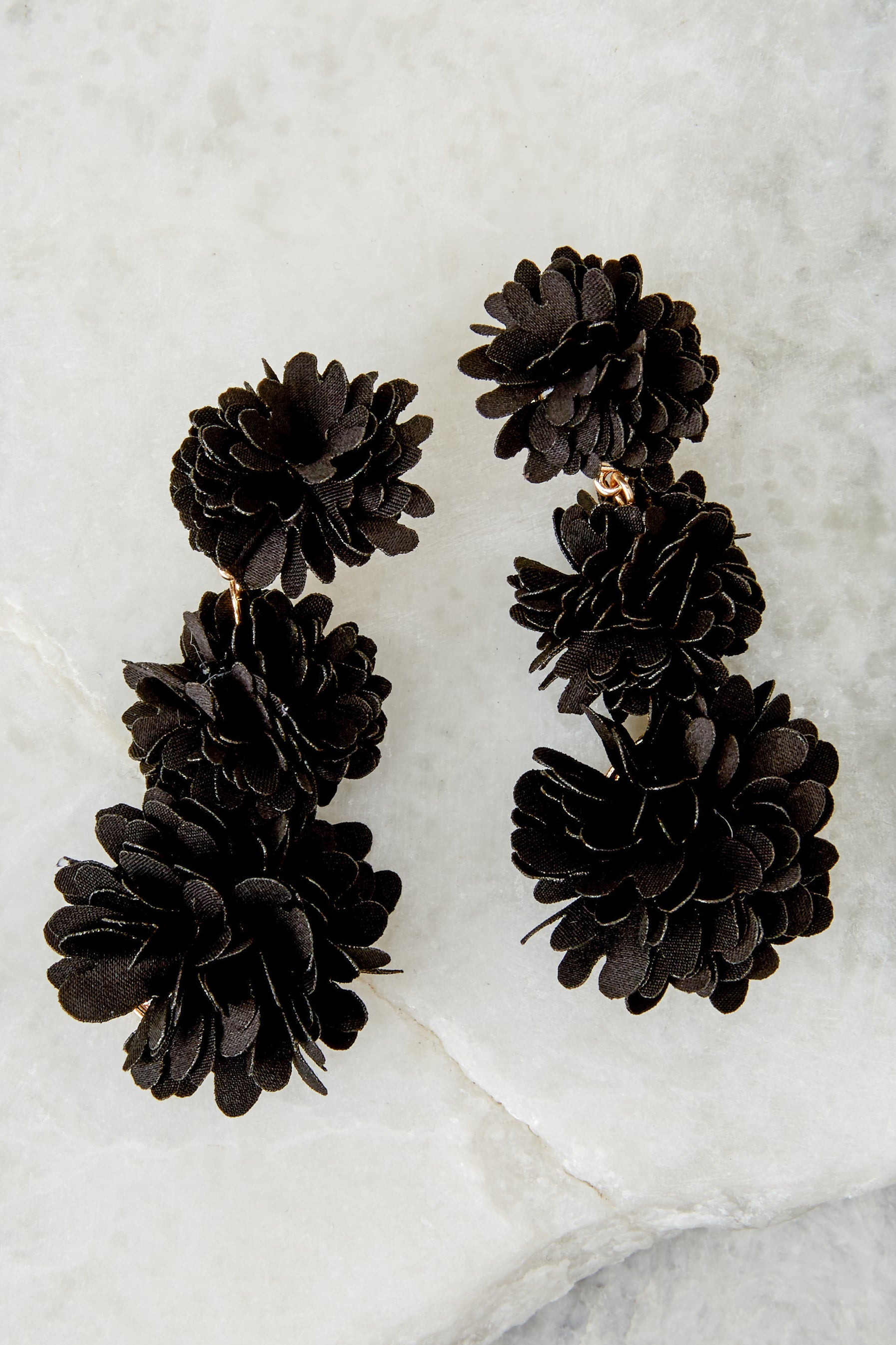 1 For A Little While Black Earrings at reddressboutique.com