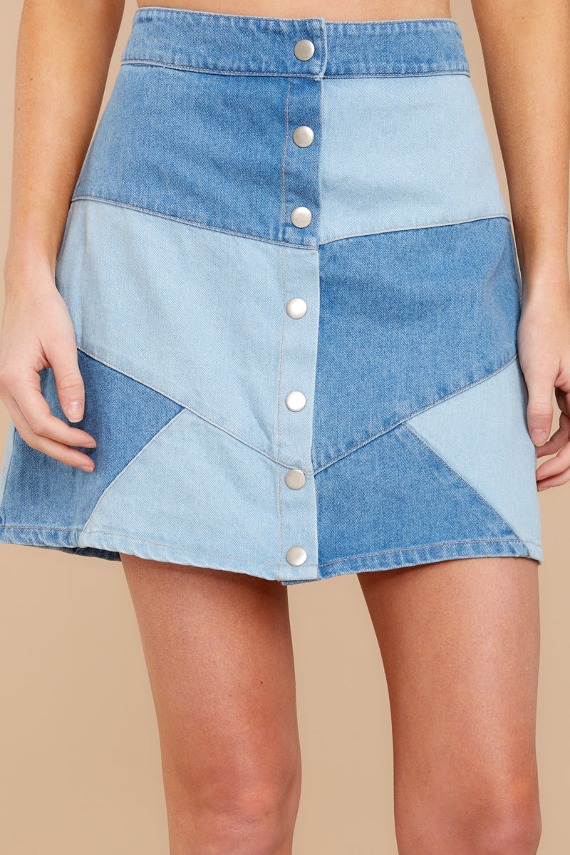 1 Here Goes Nothing Denim Skirt at reddressboutique.com