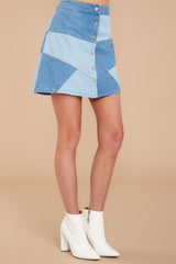 2 Here Goes Nothing Denim Skirt at reddressboutique.com