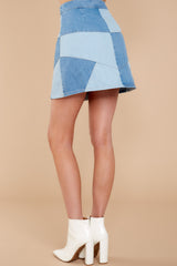 4 Here Goes Nothing Denim Skirt at reddressboutique.com