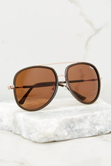 Needing Fame Brown Sunglasses