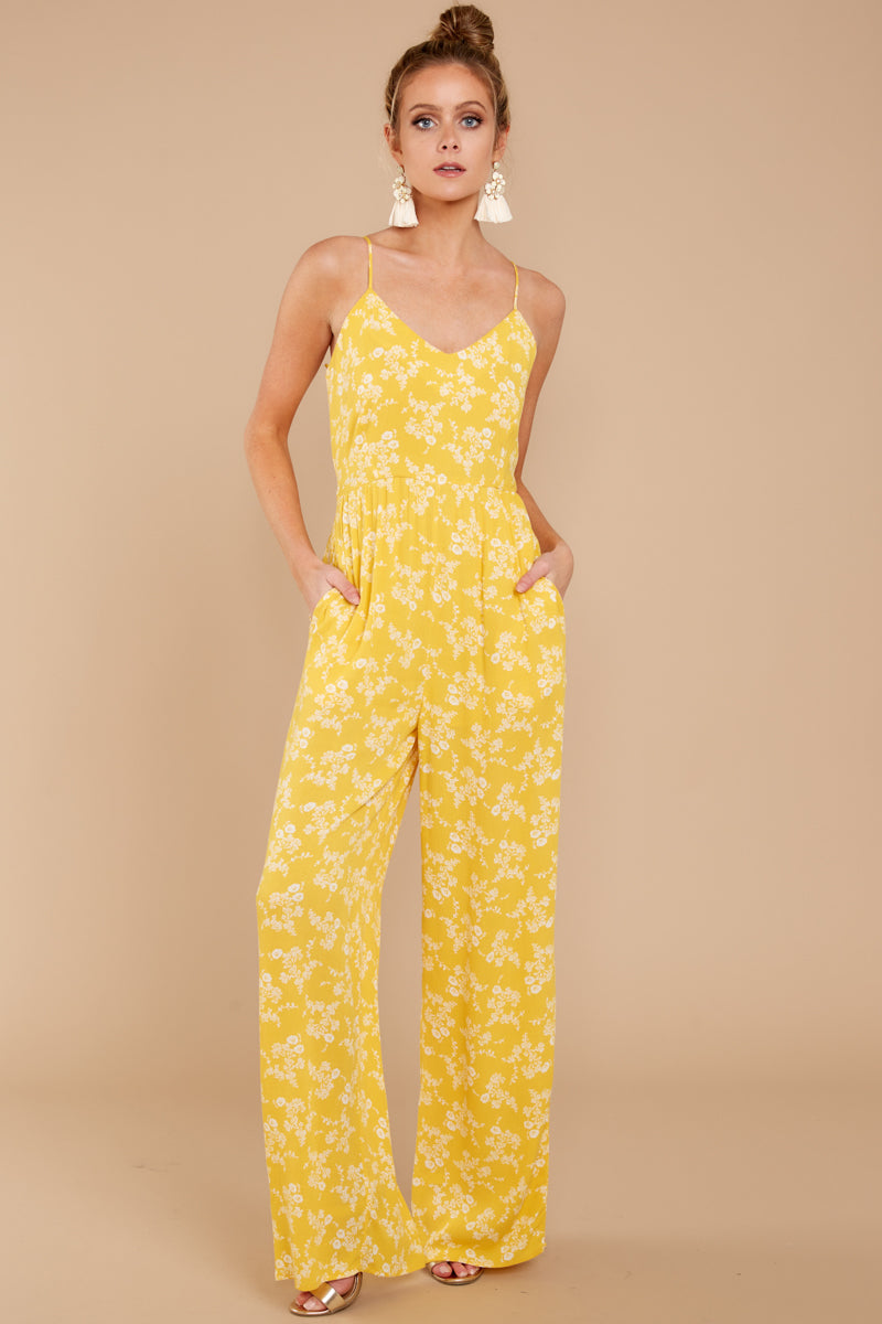 2c5aea4c96ac Trendy Yellow Print Jumpsuit - Chic Jumpsuit - Jumpsuit -  52.00 ...