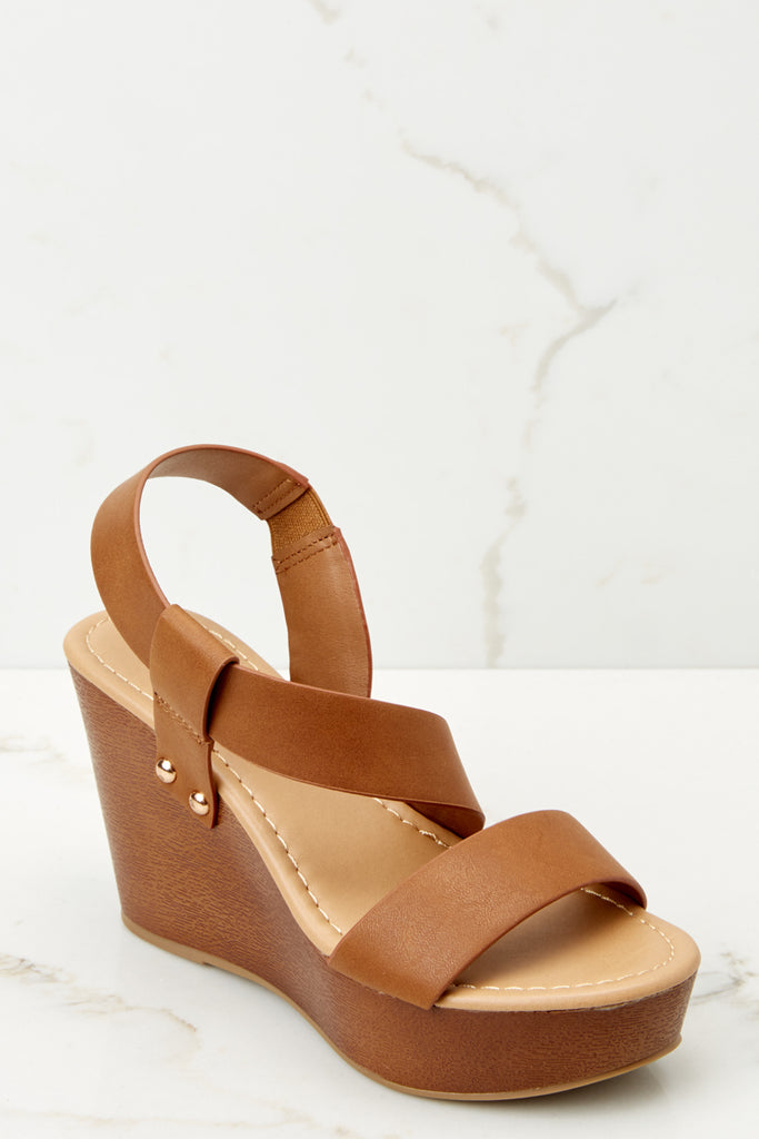1 Give Me Your Time Brown Multi Wedges at reddressboutique.com