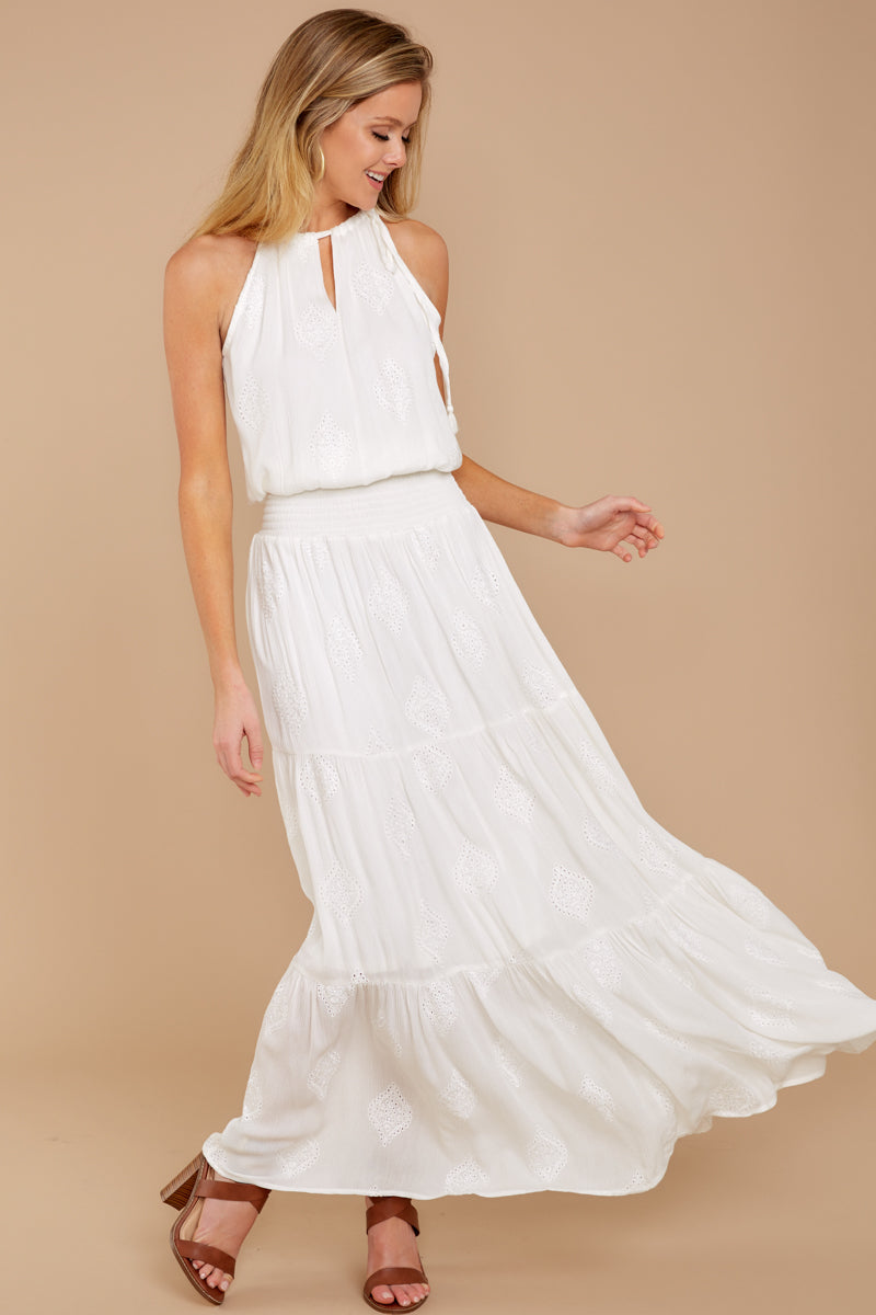 7d2e7072409 Elegant White Maxi Dress - Keyhole Neck maxi - Dress -  68.00 – Red ...