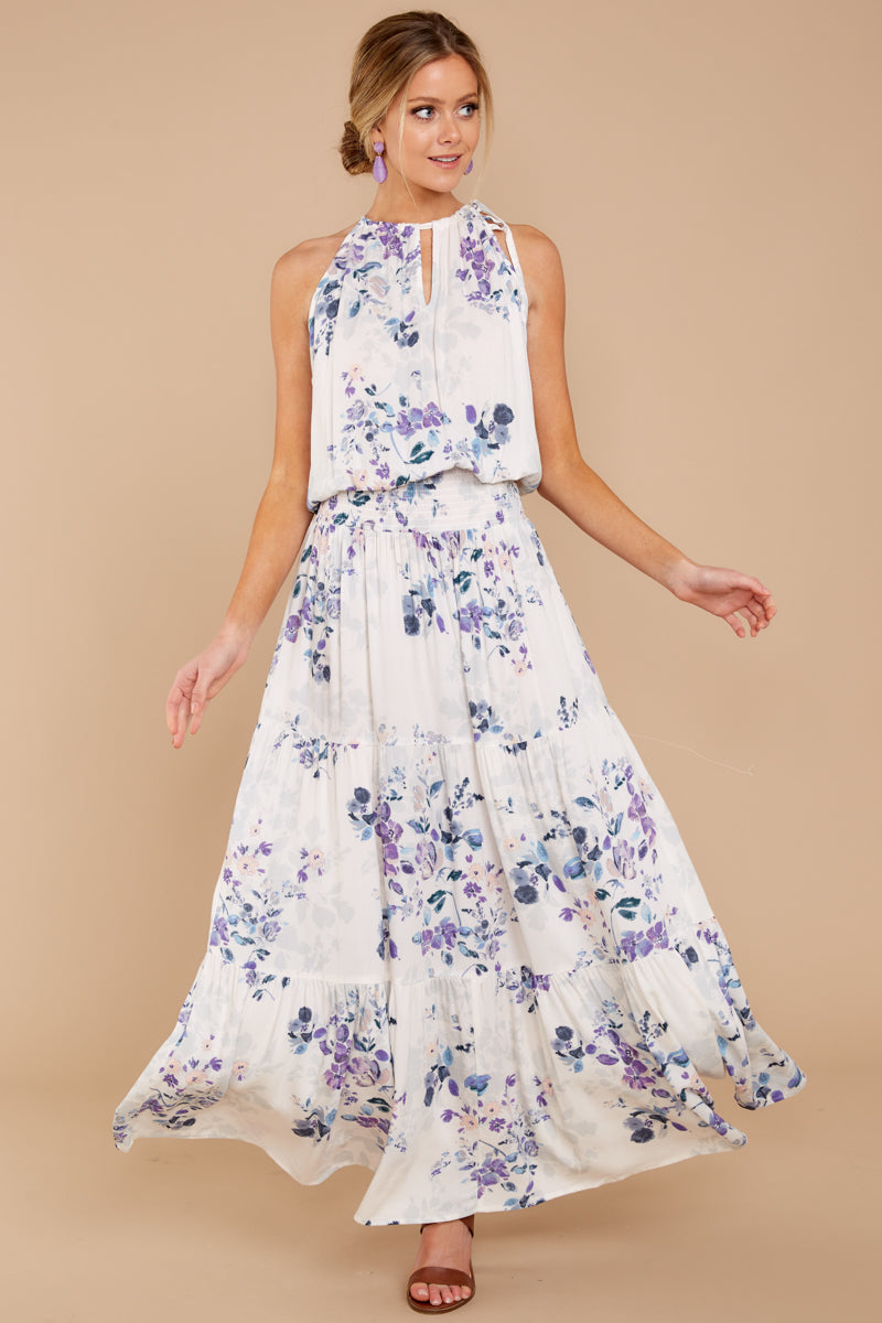 22b3ae1014 Chic Maxi Dress - Adorable Floral Print Dress - Dress - $56.00 – Red ...