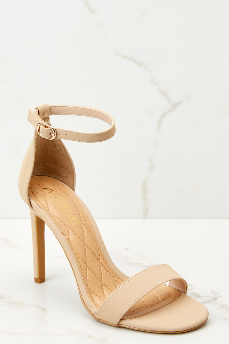 1 Chic Moves Nude Ankle Strap High Heels at reddressboutique.com