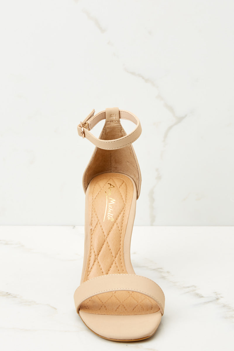 2 Chic Moves Nude Ankle Strap High Heels at reddressboutique.com