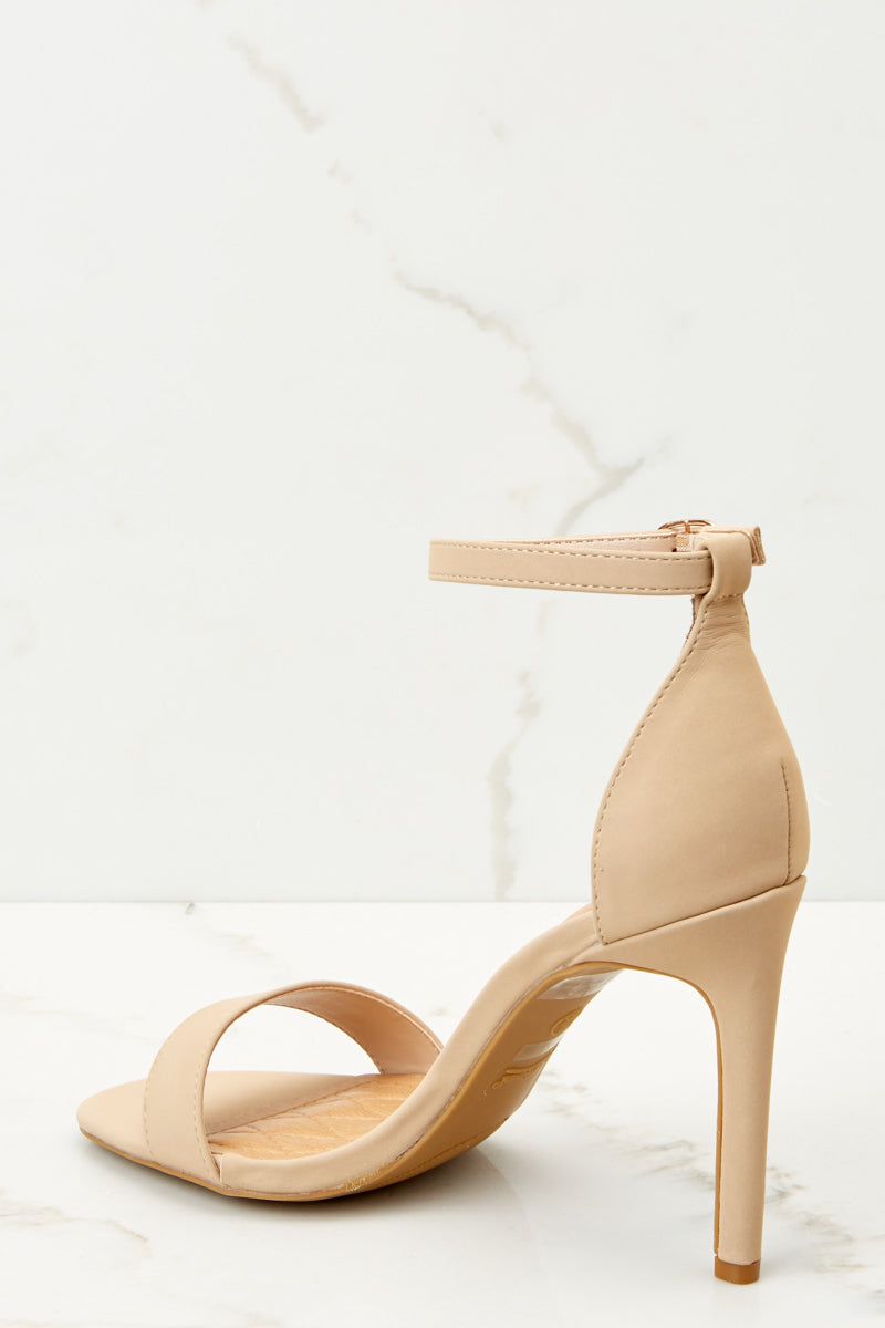 3 Chic Moves Nude Ankle Strap High Heels at reddressboutique.com