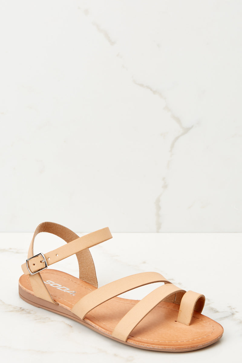 844d97ee6865 Cute Light Tan Sandals - Strappy Sandals - Sandals -  22.00 – Red Dress