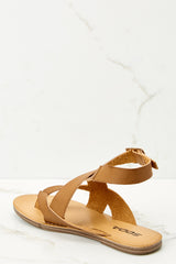 3 No Effort Needed Tan Sandals at reddressboutique.com