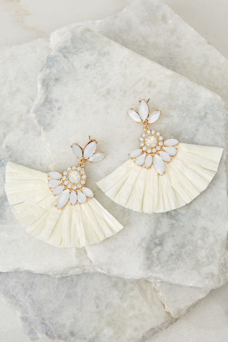Nothing Like Before White Statement Earrings