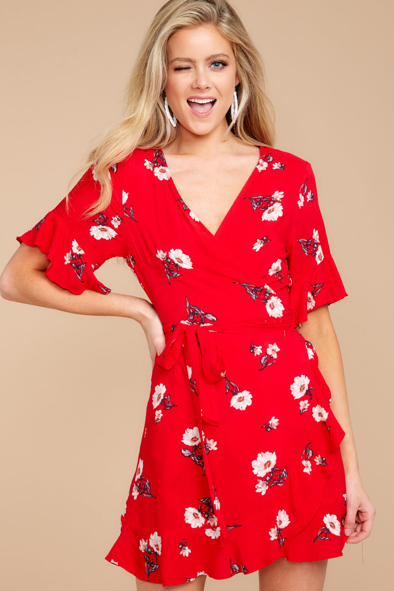 984c21788288 ... where to buy chic red dress cute floral print dress dress 48.00 4c010  d3ef9