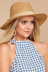 2 Day In The Sun Tan Hat at reddressboutique.com
