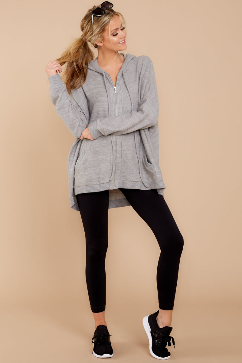 1 Always Late Heather Grey Jacket at reddress.com