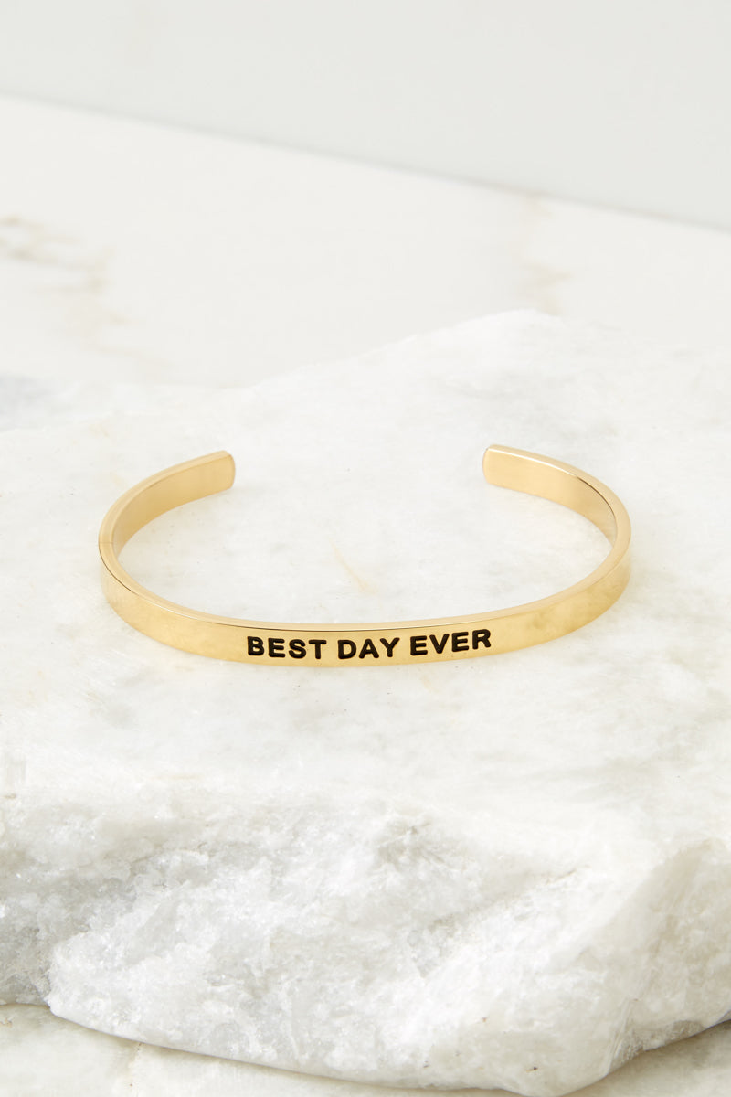 5 Best Day Ever Gold Bracelet at reddressboutique.com