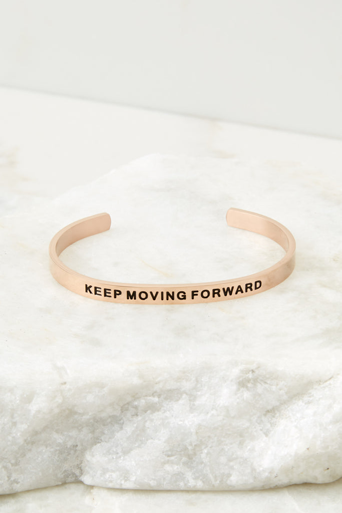 1 Do As Dreamers Do Rose Gold Bracelet at reddressboutique.com