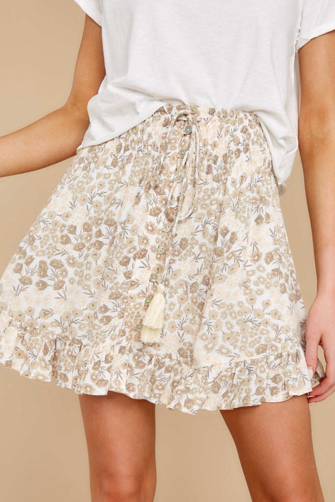 1 My Flawless Yellow Floral Print Skirt at reddress.com