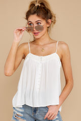 7 Without Us White Crochet Tank Top at reddress.com