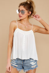 6 Without Us White Crochet Tank Top at reddress.com