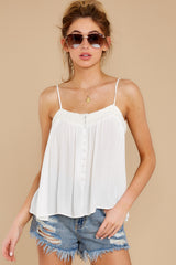 5 Without Us White Crochet Tank Top at reddress.com