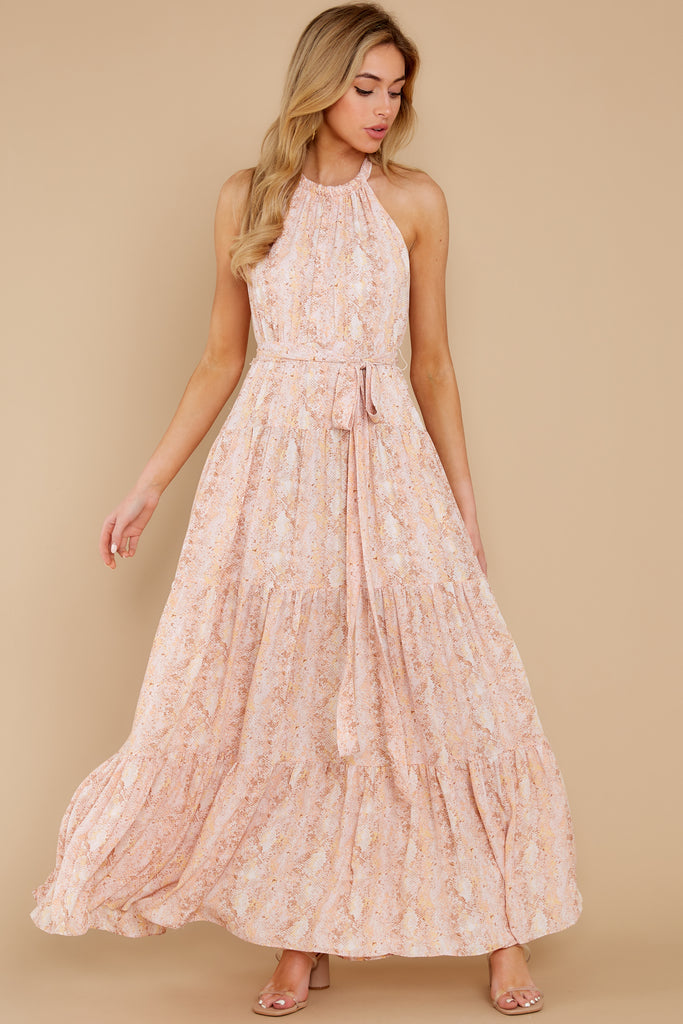 1 Instant Romance Pink Multi Print High-Low Dress at reddress.com