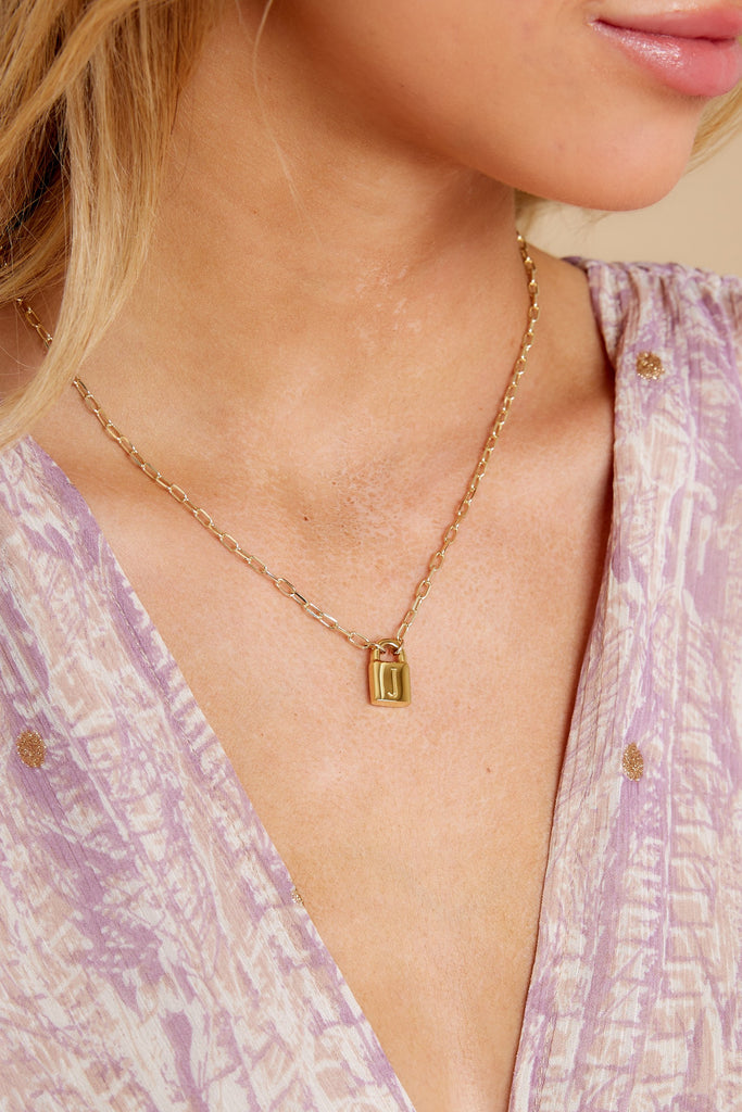 1 Perfect Timing Gold J Initial Charm at reddress.com