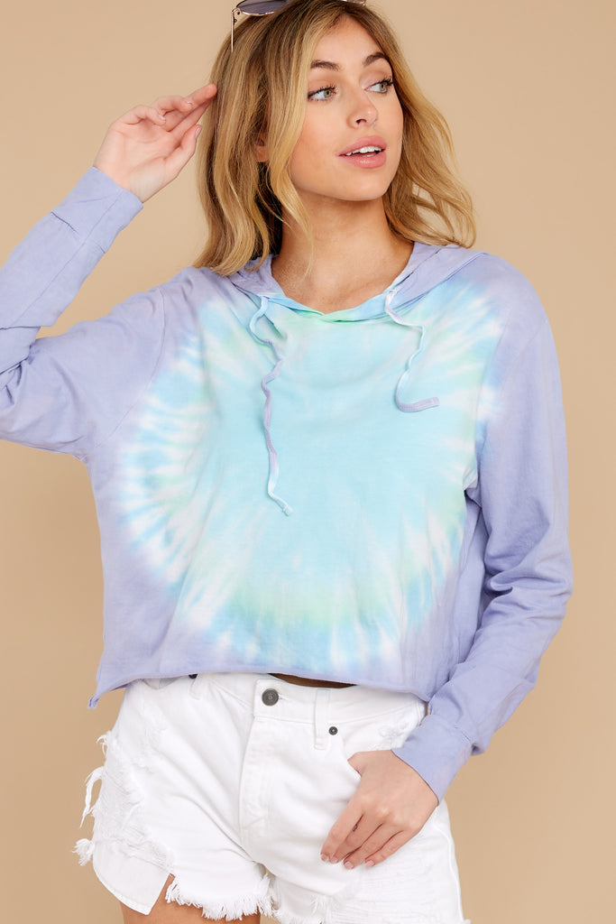 1 Sky's The Limit Natural Tie Dye Hoodie at reddress.com