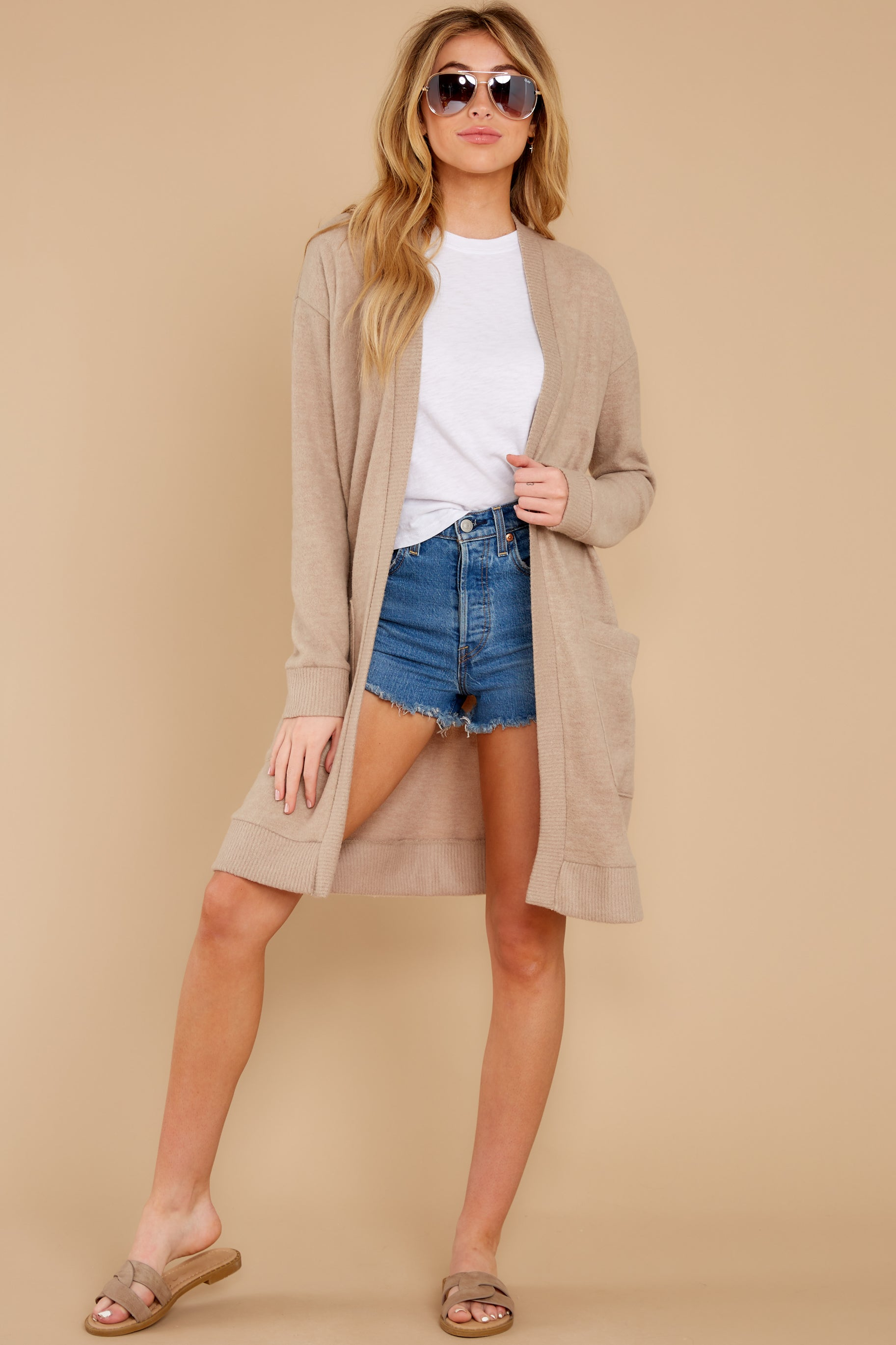 5 All I Really Want Taupe Cardigan at reddress.com