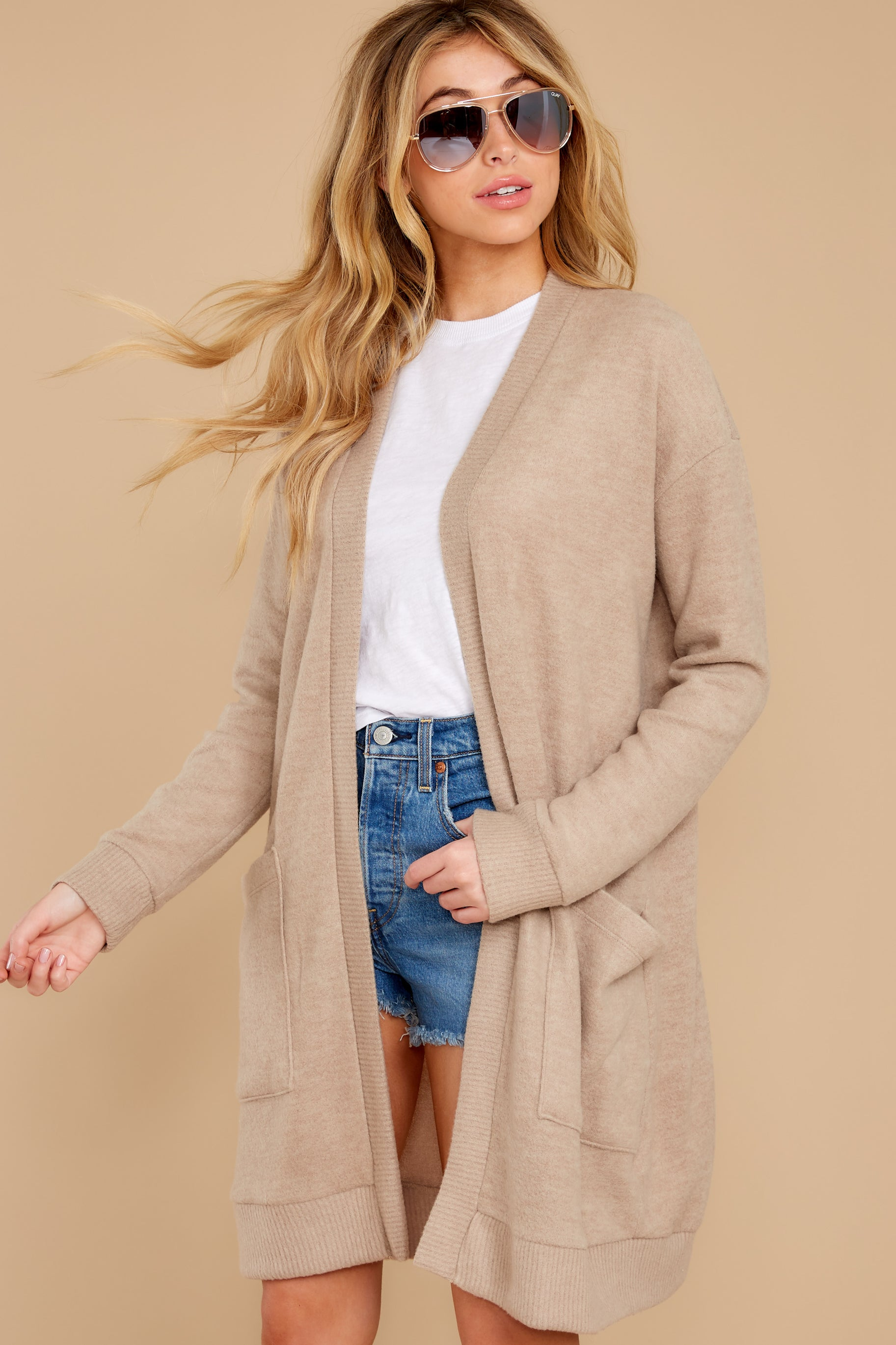 1 All I Really Want Taupe Cardigan at reddress.com