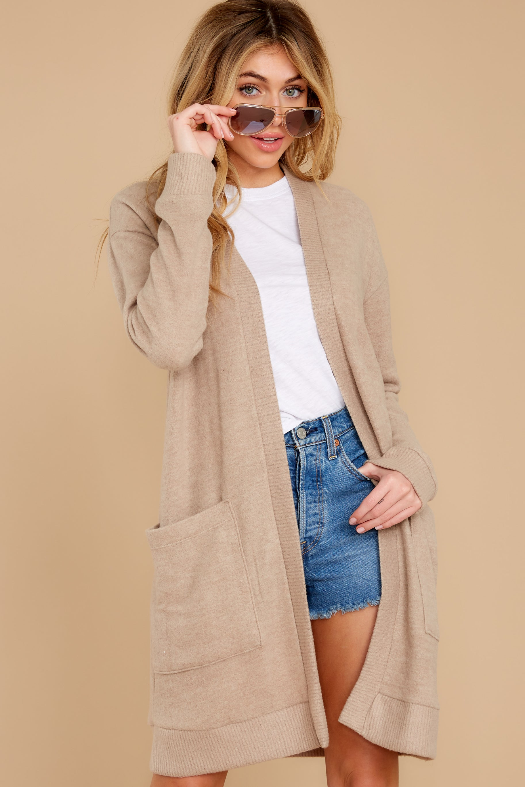 2 All I Really Want Taupe Cardigan at reddress.com