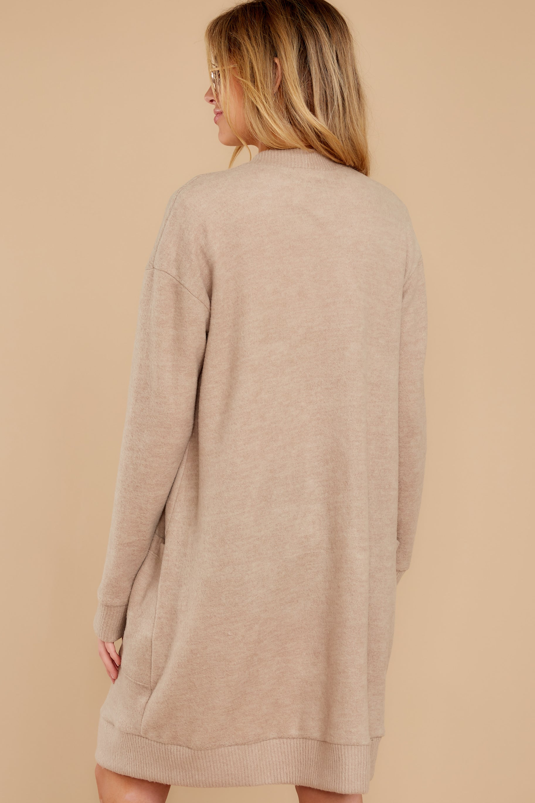 9 All I Really Want Taupe Cardigan at reddress.com