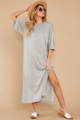 2 Lounging Around Grey Dress at reddress.com