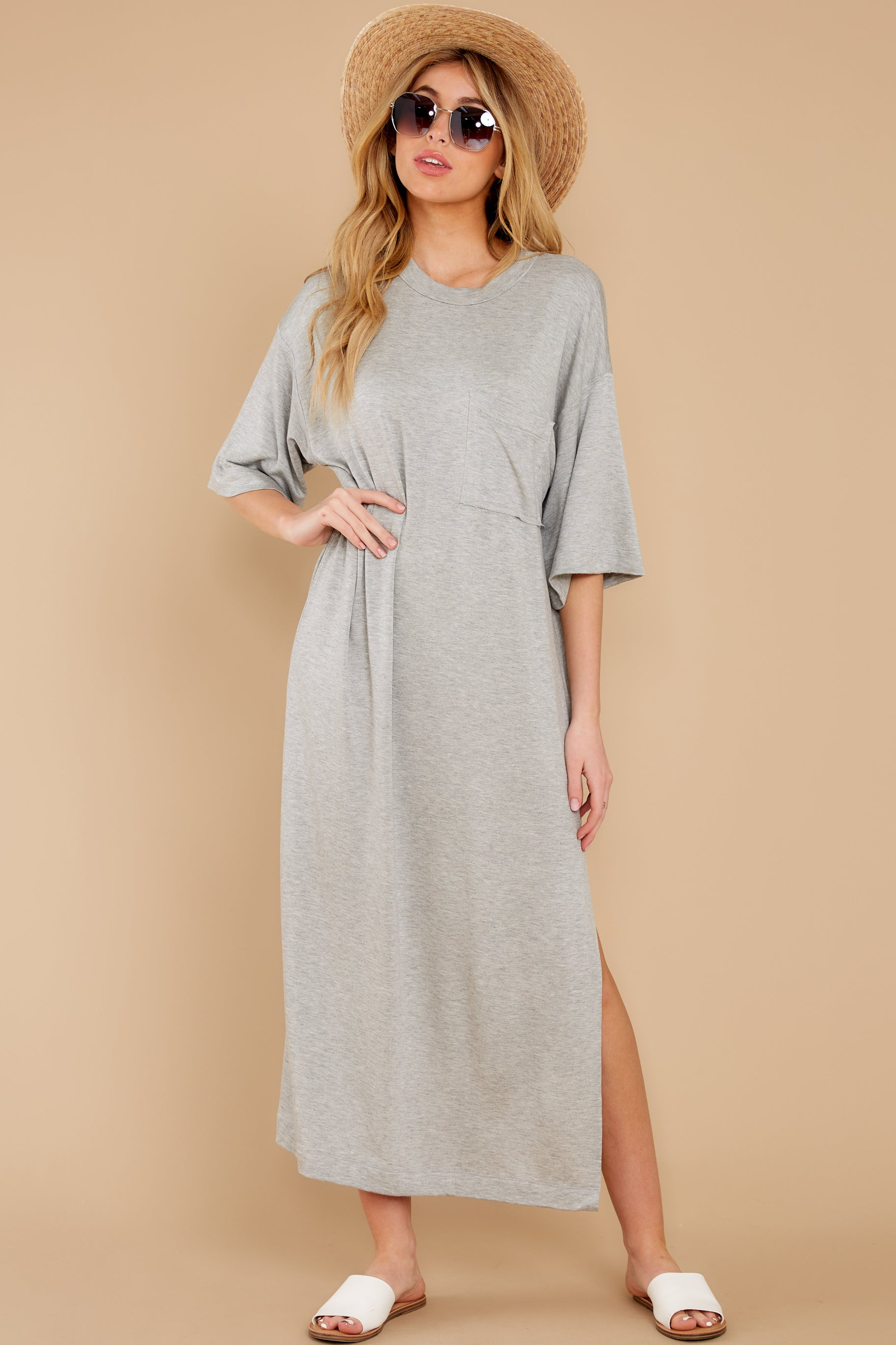 5 Lounging Around Grey Dress at reddress.com