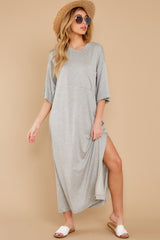 4 Lounging Around Grey Dress at reddress.com