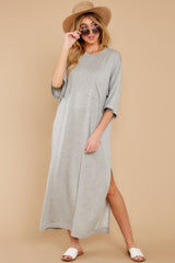 3 Lounging Around Grey Dress at reddress.com