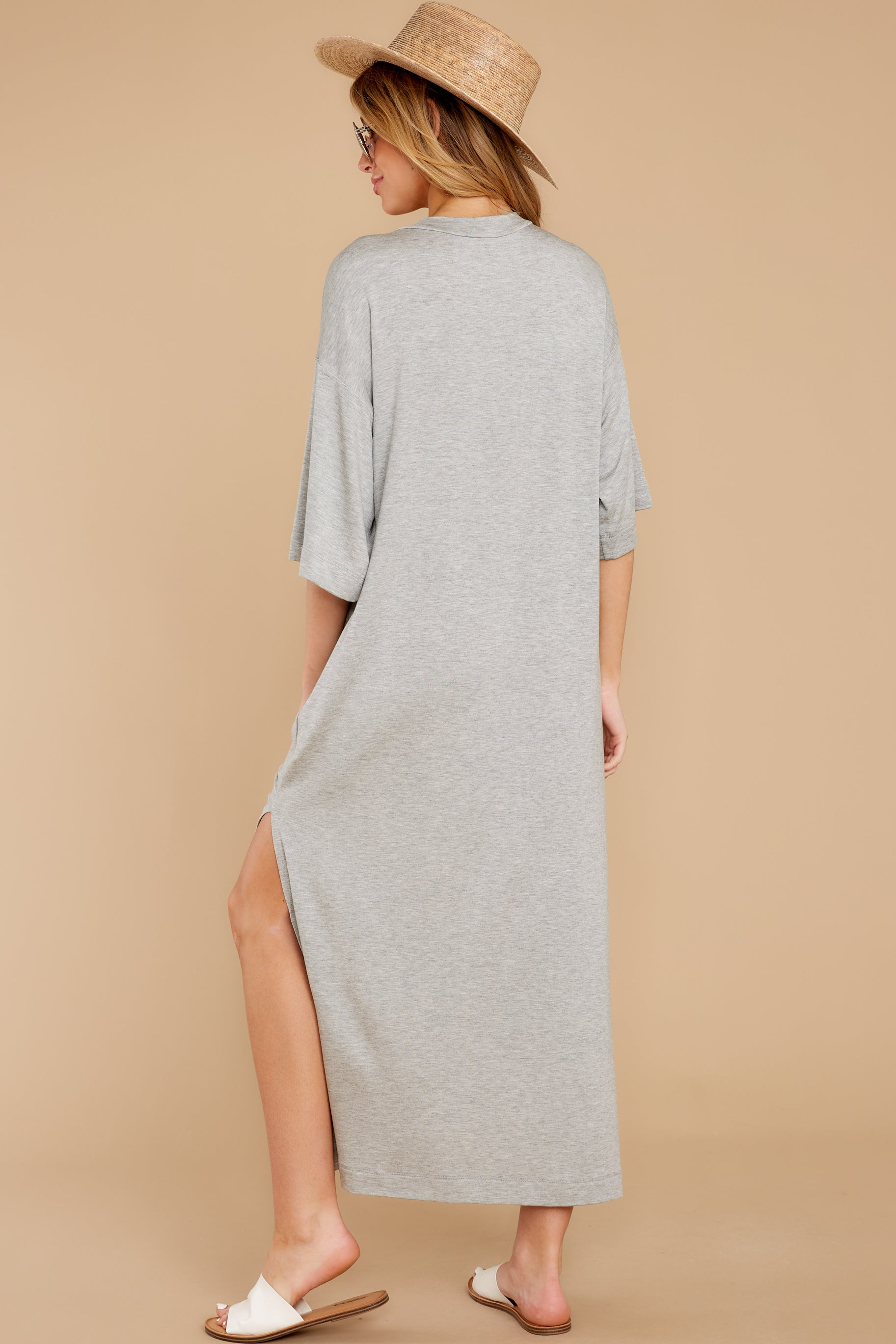 7 Lounging Around Grey Dress at reddress.com