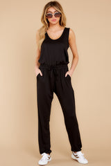 Sleepy Sunday Black Jumpsuit