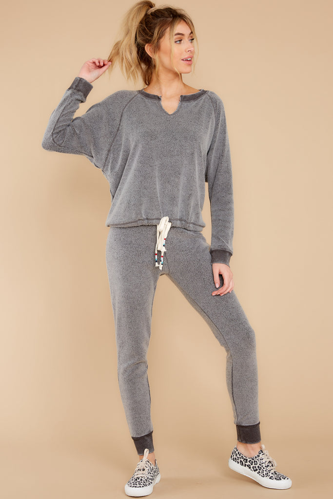 1 Blissful Breeze Washed Sage Sweatshirt at reddress.com