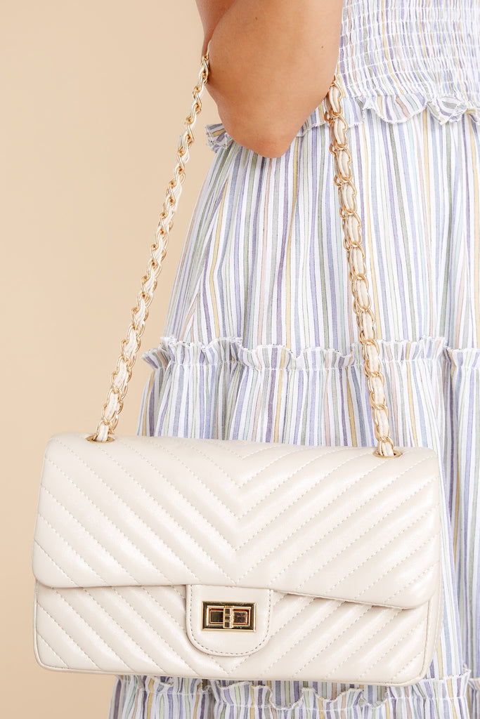 Polished And Poised Nude Bag