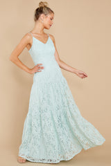 3 Elegantly Poised Pale Mint Lace Maxi Dress at reddress.com