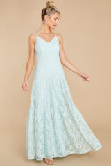2 Elegantly Poised Pale Mint Lace Maxi Dress at reddress.com