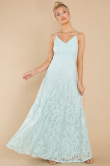 5 Elegantly Poised Pale Mint Lace Maxi Dress at reddress.com