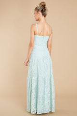 8 Elegantly Poised Pale Mint Lace Maxi Dress at reddress.com