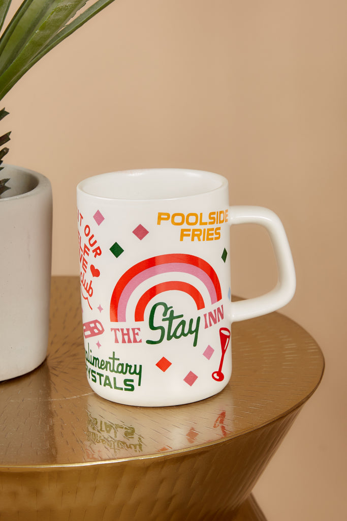 1 Staycation Hot Stuff Big White Ceramic Mug at reddress.com