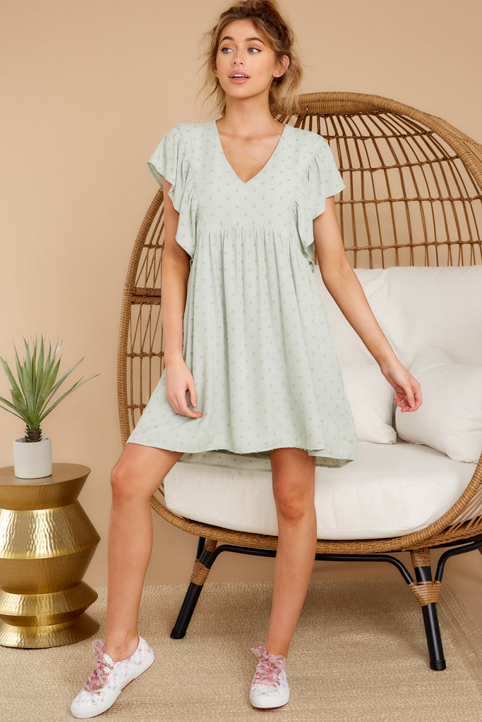 1 Feeling Fine Sage Dress at reddressboutique.com