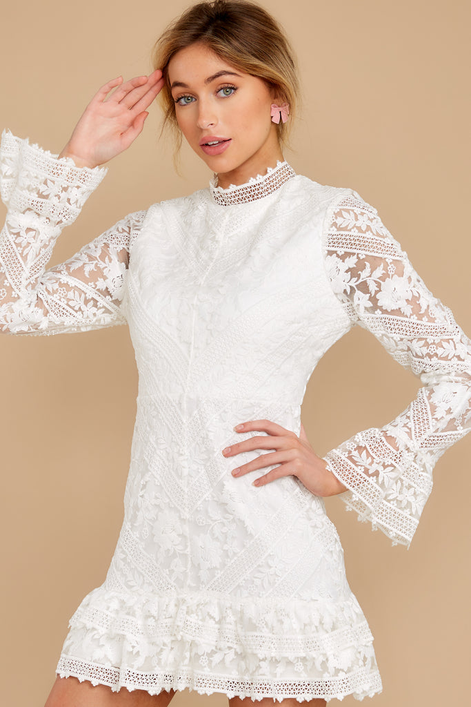 1 Simply Amazing White Lace Dress at reddress.com